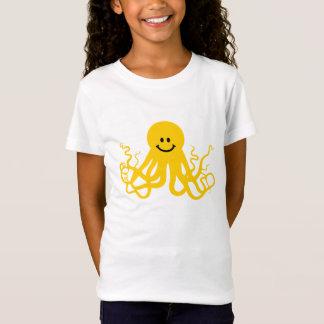 Octopus / Kraken Yellow Smiley T-Shirt