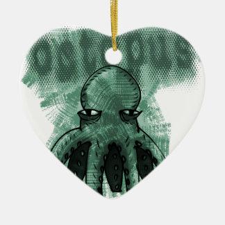 octopus light green ceramic heart decoration