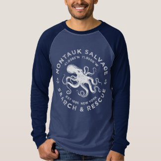 Octopus Logo / Montauk Salvage Company T-Shirt