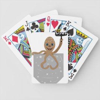 Octopus love bicycle playing cards