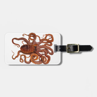 Octopus Macropus Atlantic White Spotted Octopus Bag Tag