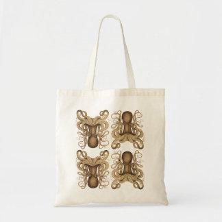 Octopus Marmoratus Tote Bags