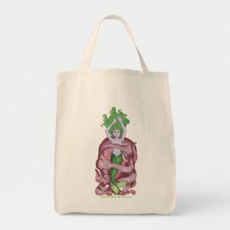 Octopus Mermaid Grocery Tote Bag