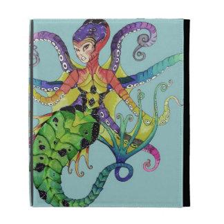 Octopus Mermaid iPad folio cover