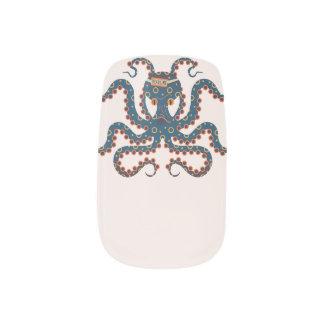 octopus minx nail art