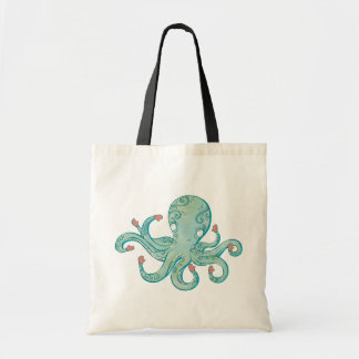 Octopus mittens budget tote bag