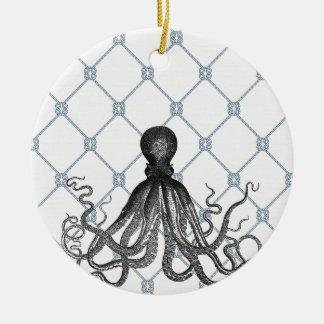 Octopus  - Nautical Round Ceramic Decoration