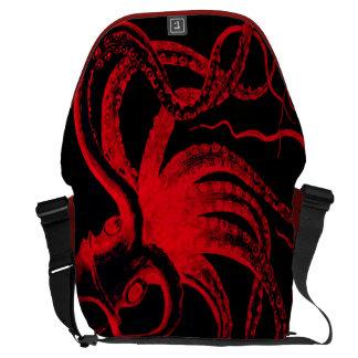 Octopus Nautical Steampunk Vintage Kraken Monster Courier Bag
