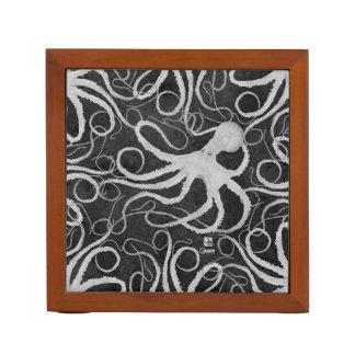 Octopus on Dark Grey - Desk Organizer