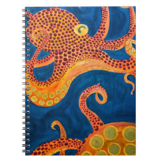 octopus painting notebook