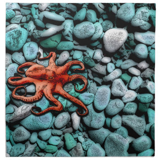 Octopus Pebbles Printed Napkin