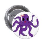 Octopus Pinback Button