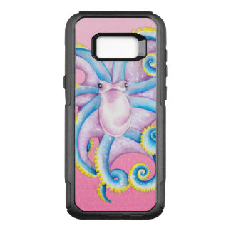 octopus pink stained glass OtterBox commuter samsung galaxy s8+ case