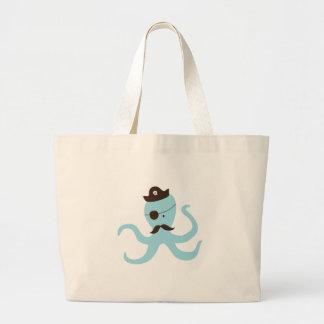 Octopus Pirate Tote Bag