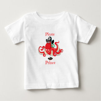 Octopus Pirate Prince Baby Fine Jersey T-Shirt