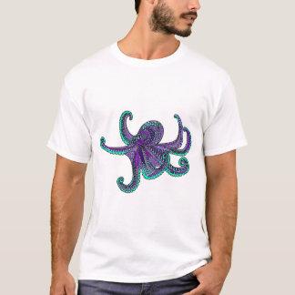 Octopus purple teal ocean sea life T-Shirt