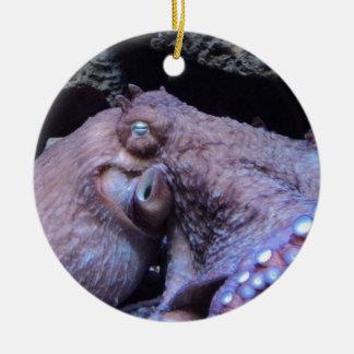Octopus Round Ceramic Decoration