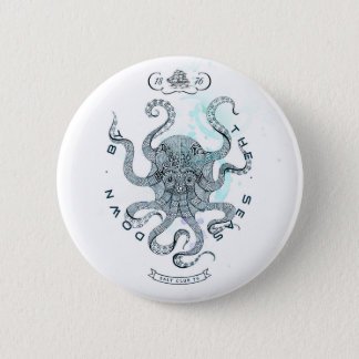 Octopus - Salt Club 76 - Down by the Sea 6 Cm Round Badge