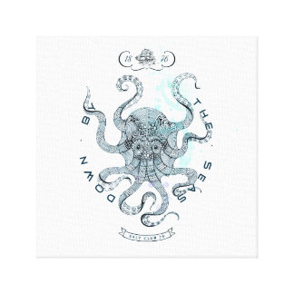Octopus - Salt Club 76 - Down by the Sea Canvas Print