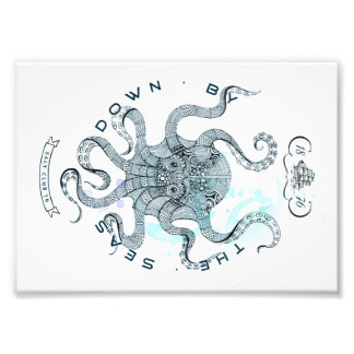 Octopus - Salt Club 76 - Down by the Sea Photo Print