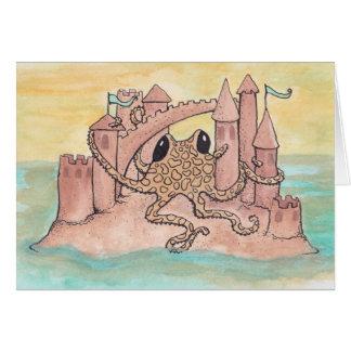 Octopus & Sandcastle Card