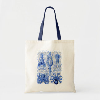 Octopus & Squid Blue Budget Tote Bag