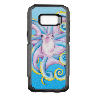 Octopus Stained Glass Blue OtterBox Commuter Samsung Galaxy S8+ Case