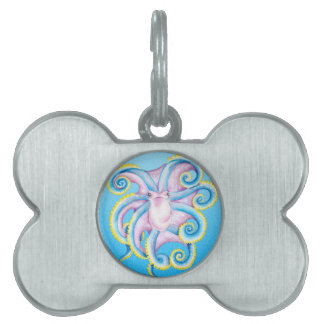 Octopus Stained Glass Pet Tag