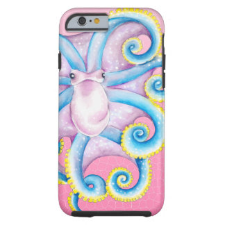 Octopus Stained Glass Pink Tough iPhone 6 Case