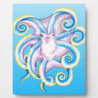 Octopus Stained Glass Plaque