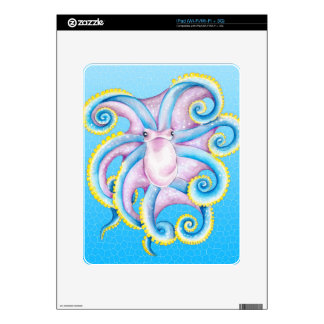 Octopus Stained Glass Skin For iPad