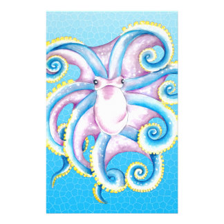 Octopus Stained Glass Stationery