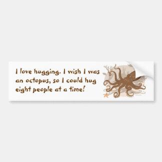 Octopus Starfish Coral Reef Bumper Sticker