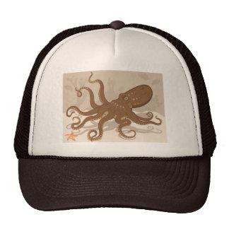 Octopus Starfish Coral Reef Cap