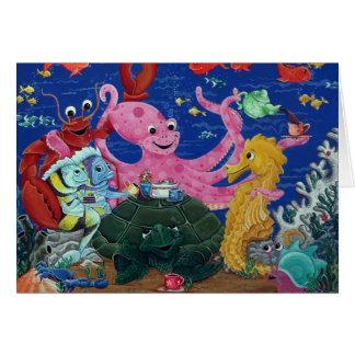 Octopus' Teaparty Card