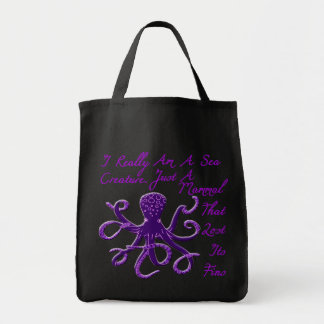 octopus tote grocery tote bag