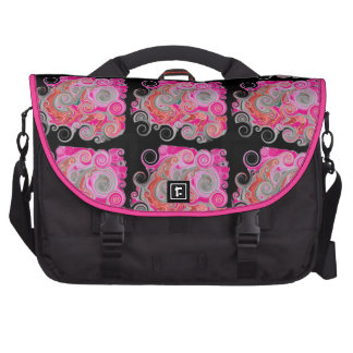 Octopus Tracks - Hot Pink Laptop Commuter Bag