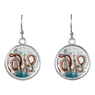 Octopus Vintage Map Earrings