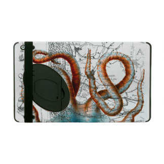 Octopus Vintage Map iPad Folio Case