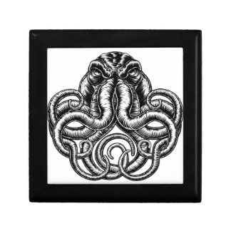 Octopus Vintage Retro Style Gift Box