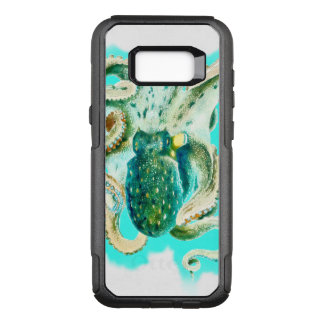 Octopus Watercolor Teal OtterBox Commuter Samsung Galaxy S8+ Case