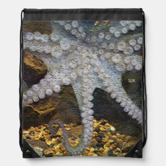 Octopus with Exposed Suction Cup Tentacles Backpack