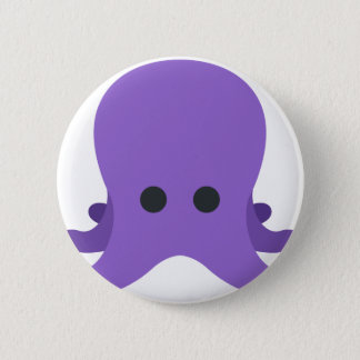 Octopuss Emoji 6 Cm Round Badge