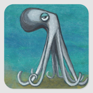 """Octosquid""_We all know one Square Sticker"