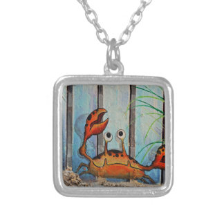 Ocypoid Crab Silver Plated Necklace