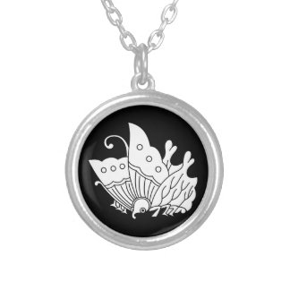 Oda butterfly silver plated necklace