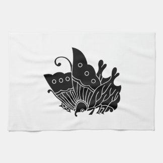 Oda butterfly tea towel