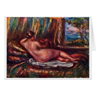 Odalisque By Pierre-Auguste Renoir (Best Quality) Card