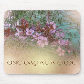 ODAT Plum Blossoms on Green Mouse Pad