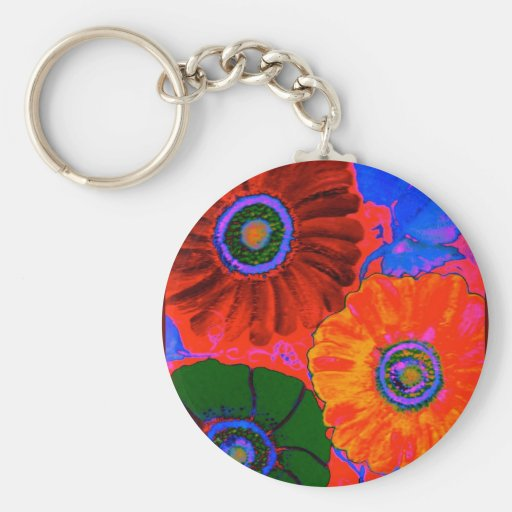 odd-2.jpgAbstract floral in red Key Chains